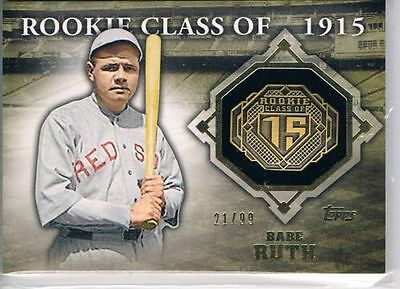 2014 Topps Class Rings Gold #CR7 Babe Ruth #21/99