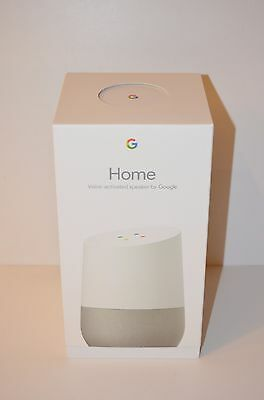 Google Home - White Slate, Smart Speaker Home Personal Assistant -BRAND NEW!