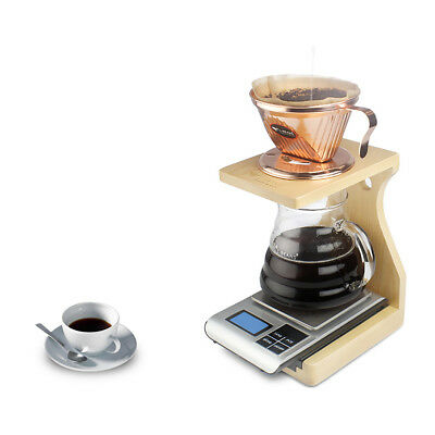 Portable Pour Over Coffee Stand for Coffee Dripper Filter Wooden Station