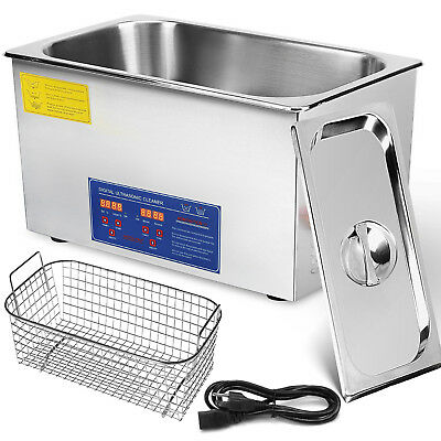 New Stainless Steel 30L Liter Industry Heated Ultrasonic Cleaner Heater w/Timer
