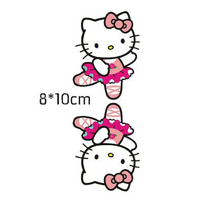 Hello Kitty - Pink Car Stickers Dancing Ballet Window Wall Decals 2pcs QP