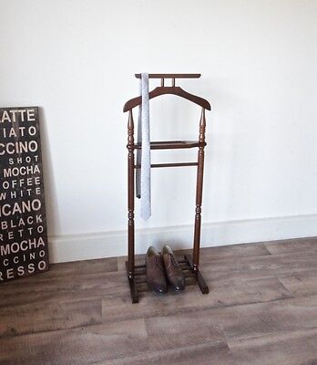 Vintage Mahogany Timber Gentleman's Valet Clothing Coat Stand