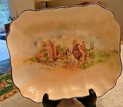 "Royal Doulton Kenilworth Castle-Queen Elizabeth Dish/Bowl 9"" L x 7.5"" W"