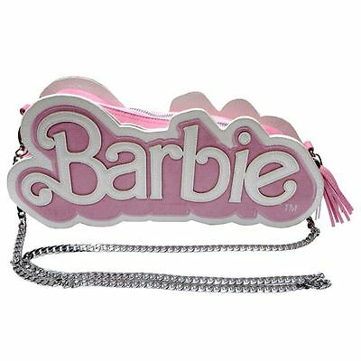 05561ff5a098 Officially Licensed Barbie Logo Pink And Pearl Cross-Body Clutch Shoulder  Bag