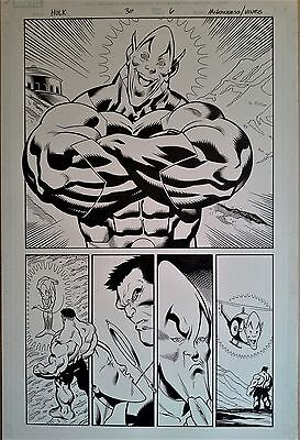 Ed McGuinness original art - Hulk #30  - Red Hulk and Impossible Man!