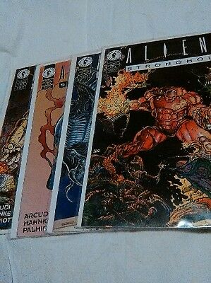 ALIENS STRONGHOLD ISSUES  1, 2, 3 and 4 - Lot of 4 printed in 1994 near mint con