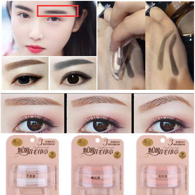 LATEST HOT Eyebrow Shadow Definition Makeup Brow Stamp Powder Palette Natural