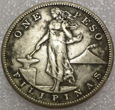 1908-S Philippines/US Peso 80% Silver, combined shipping