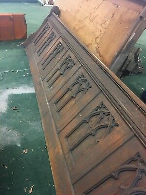 Antique Church Oak Alter Divider Shipping According To Zip