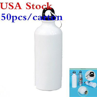 US Stock- 700ml Blank Aluminum Sports Bottle White for Sublimation Printing
