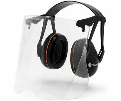 Husqvarna ear defenders with perspex visor for use with brushcutters / strimmers
