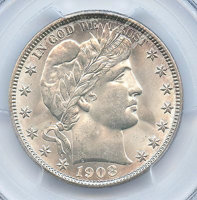 1908-O Barber Half Dollar, PCGS MS 64, CAC Approved!