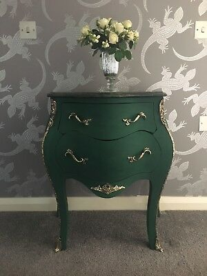 Bombe Chest hand painted, with solid marble top....project