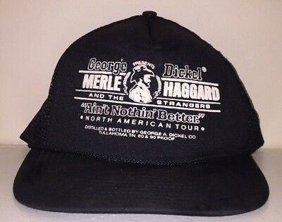 VTG 80s 1987 MERLE HAGGARD And The Strangers North American Tour Trucker Hat