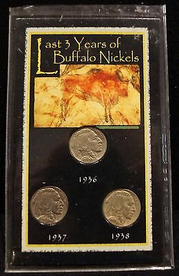 The Last Three Years Of The Buffalo Nickels 1936, 1937, 1938