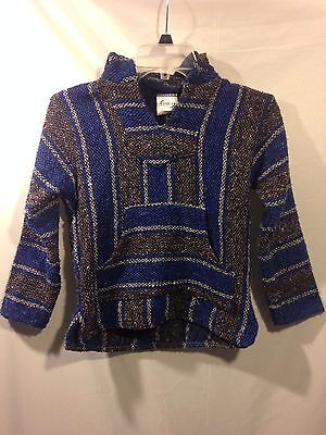 Kids Franks Textiles Baja Surfer Hippie Pullover Child Hoodie Sweater SMALL