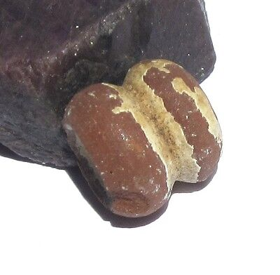 RARE STUNNING ANCIENT PRE-COLUMBIAN CLAY BEAD 13mm x 14mm