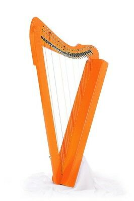 Rees Harps Fullsicle 26-String Harp - ORANGE