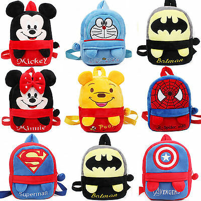 Baby Toddler Cartoon Plush Bookbags Backpack Boys Girls Soft School Shoulder Bag