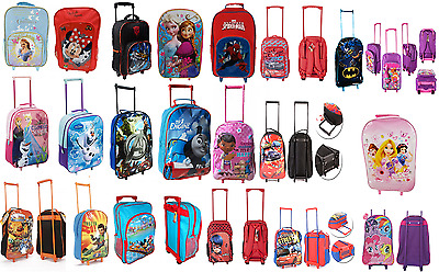 NEW CHILDREN'S DISNEY& AND CHARACTER WHEELED TROLLEY BAG SUITCASES - Kids Travel