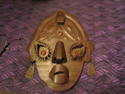 Brass Vintage Mexican Mask