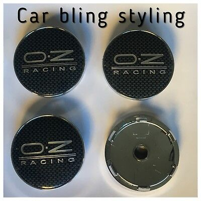 Oz Racing  Alloy  4 wheel centre caps 60mm Caps Chrome Silver Black Or Red Oz