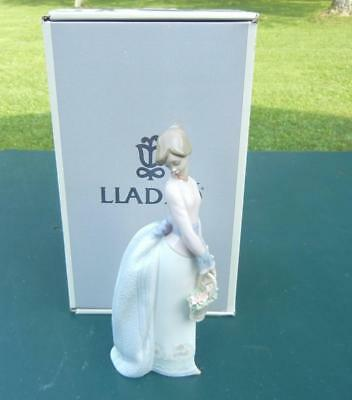 "1994 Lladro Society Figurine ""basket Of Love"" #7622 & Box Excellent"