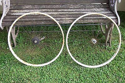 Vintage 26 Inch Schwinn  Bicycle Front And Rear Wheel
