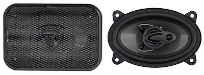 """Pair Rockville RV46.3A 4x6"""" 3-Way Car Speakers 500 Watts/70 Watts RMS CEA Rated"""