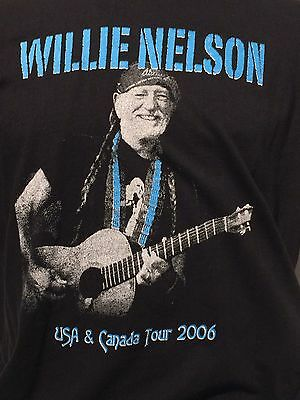 Willie Nelson 2006 USA Canada Tour Concert T Shirt Outlaw Country Singer XL 420