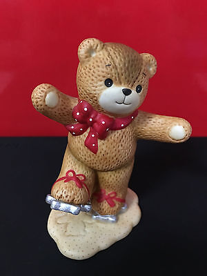 Enesco Lucy & Me Ice Skating Bear with Cookie Cutters