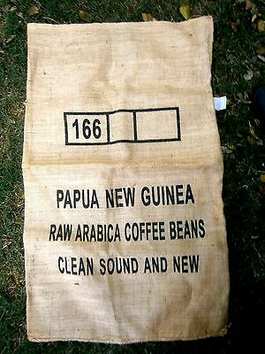 LARGE  PAPUA  NEW GUINEA  COFFEE  BEANS  JUTE  BAG  61cm. BY 100cm.
