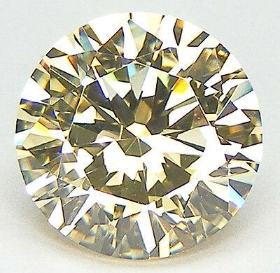10 Pcs. Top 5A++ Qualite Taille Ronde 11 Mm. Canari Jaune Zirconia Cubique Cz