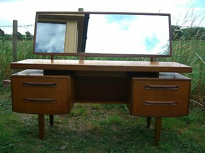 G Plan E Gomme Vintage Mid Century Atomic Original Dressing Table With Mirror