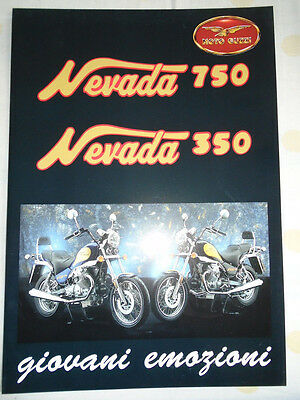 Moto Guzzi Nevada 750 350 Motorcycle brochure c1994 English text