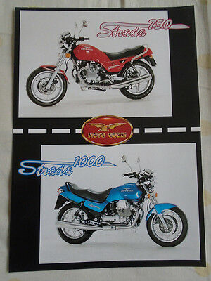 Moto Guzzi Strada 750 1000 Motorcycle brochure c1990's multi text