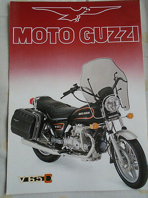 Moto Guzzi V 65 C Motorcycle brochure Nov 1983 English text