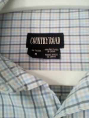 Country Road Long Sleeve Blue/Grey Check size M Shirt