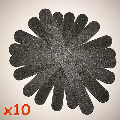 Nail Files Straight Double Sided 100/180 Grit Emery Board  Pack Of 10 KIT SET