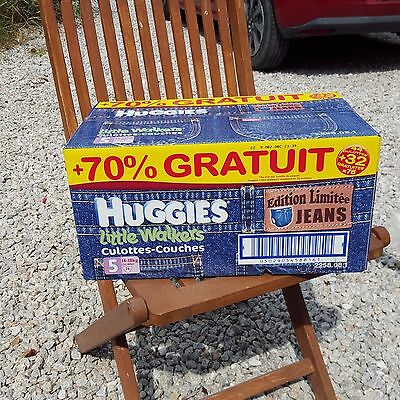 couches culottes jean HUGGIES x 76 T5 NEUF