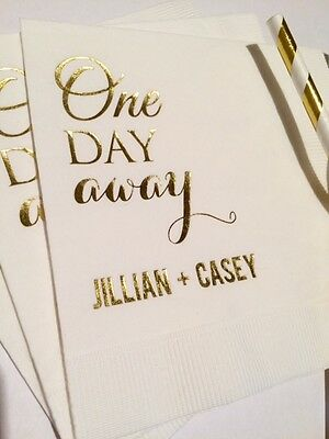 100 Personalized Napkins Wedding Rehearsal 3 Ply Napkins Cocktail Beverage