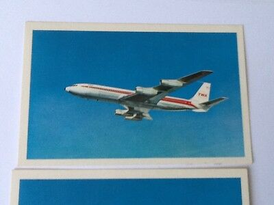 Lot Of 2 TWA Vintage Postcards