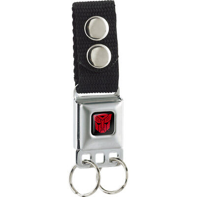 Transformers Autobot Logo Full Color Black Red Keychain  One Size