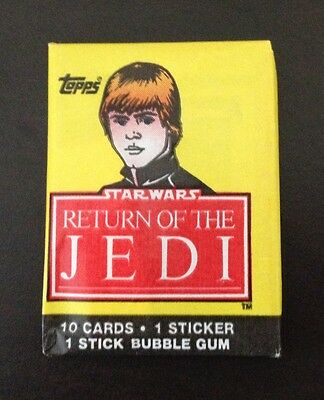 "1983 Topps ""Return of the Jedi - Series 1"" - Wax Pack (Luke Skywalker Variation)"