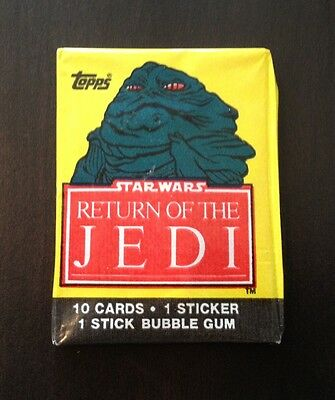 "1983 Topps ""Return of the Jedi - Series 1"" - Wax Pack (Jabba Variation)"