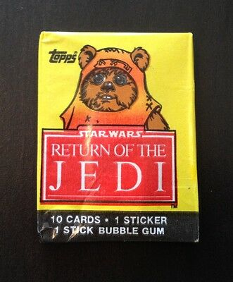 "1983 Topps ""Return of the Jedi - Series 1"" - Wax Pack (Ewok Variation)"