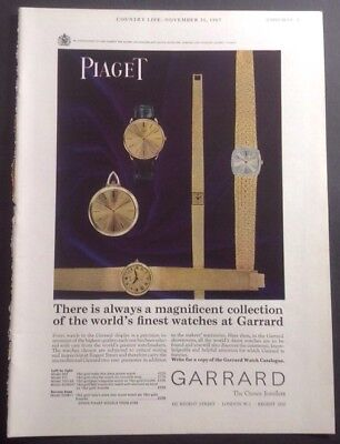 Piaget Watches Original Vintage Advert Nov' 30, 1967 From Country Life Magazine