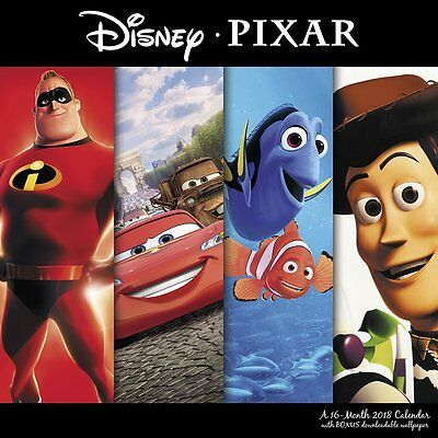 Disney Pixar - Movie Collection - 2018 Wall Calendar - Brand New - Ddw038
