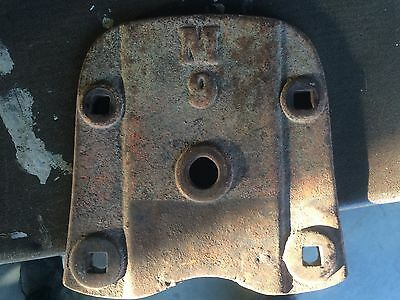 Old Cast Iron Reach Plate for Wooden Wheel Wagon