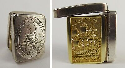 1805 Nelson HMS Victory George III Silver Vinaigrette By Hart & Co